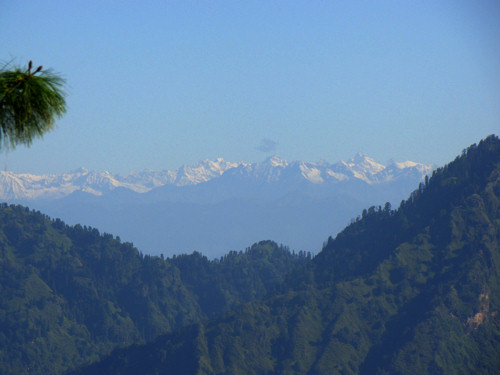 Leo Pargial,Reo Pargial mountain range view from Club Mahindra Whispering Pines resort Mashobra Shimla